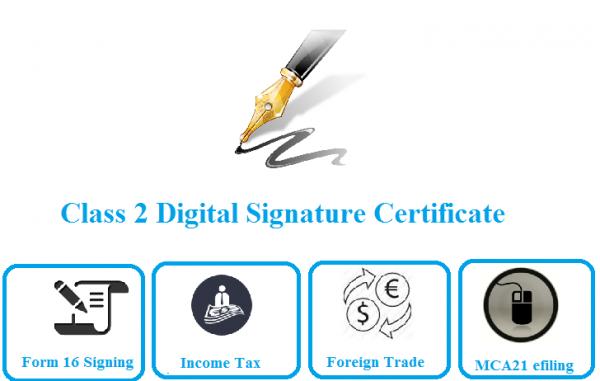Use of class 2 digital signature
