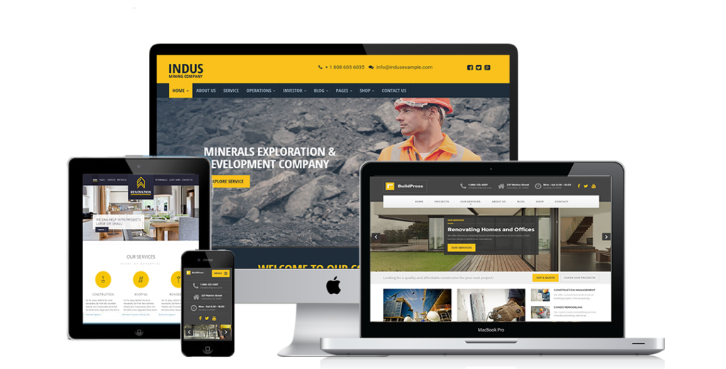 Contractor website Development