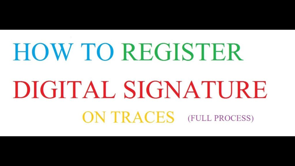 How to register digital signature on traces - signyourdoc