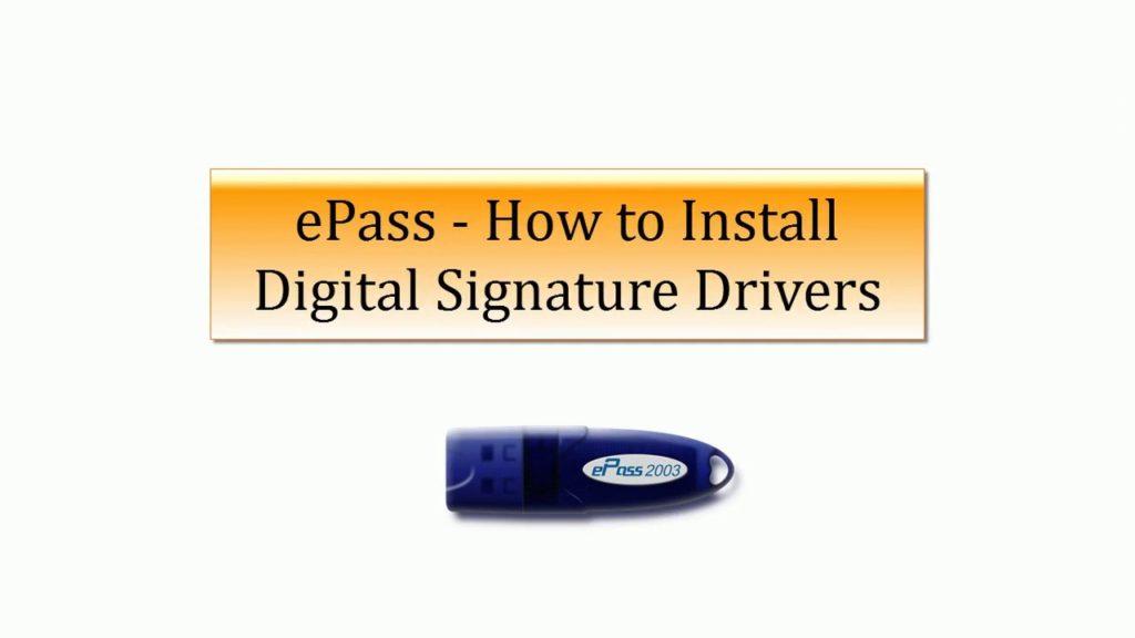 How to Install epass 2003 Auto USB Token