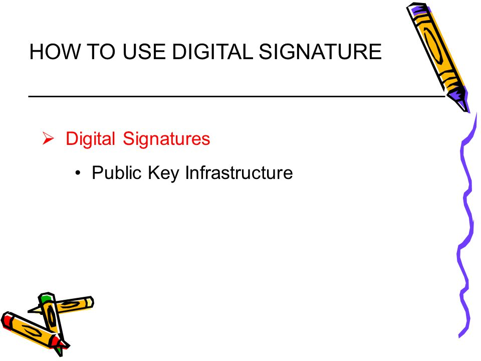 How to use Digital signature