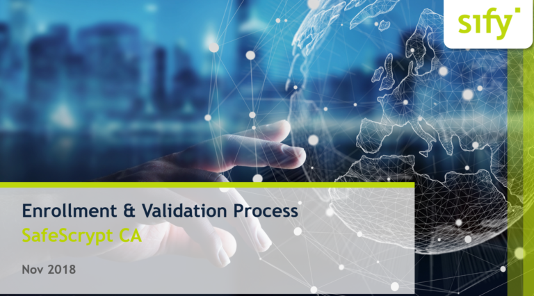 Sify New DSC Process Validation