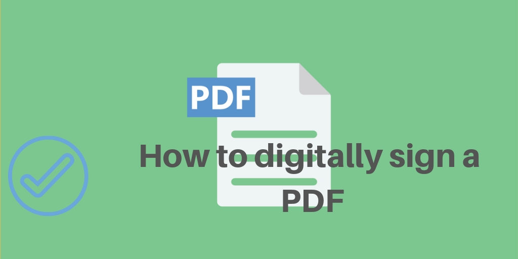 digitally sign pdf