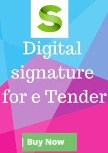 DSC for e Tender