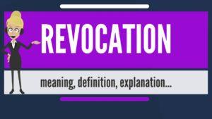 revoke meaning