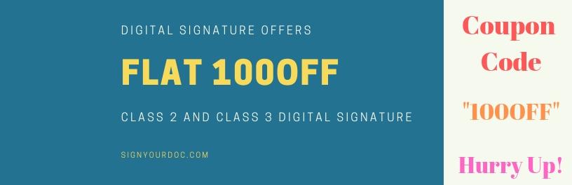 Digital signature offers