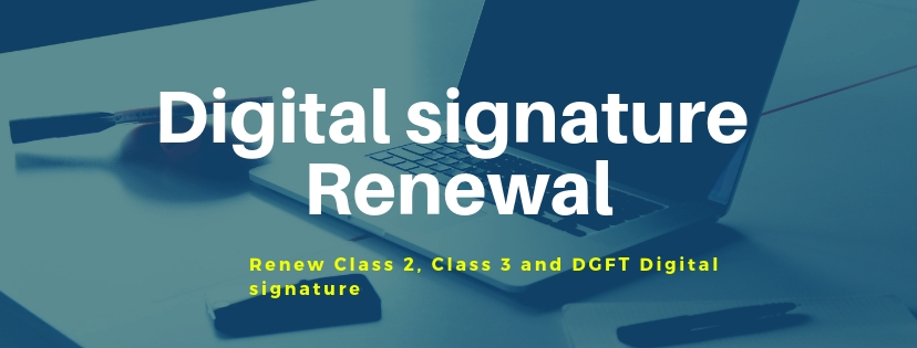 digital signature renewal