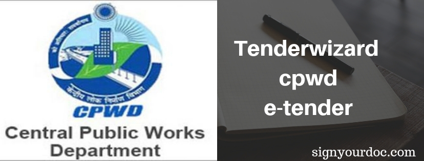 tenderwizard cpwd
