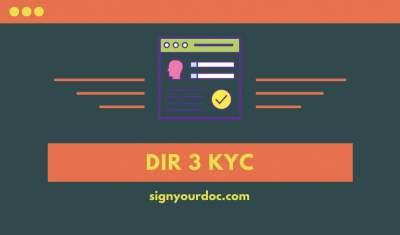 DIR 3 KYC